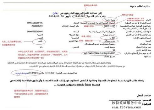 沙特商会邀请函模板